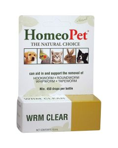 HomeoPet WRM Clear For Dogs, Cats and Small Animals