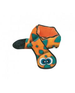 Outward Hound Snake Orange and Blue with 6 Squeakers