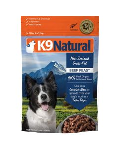 K9 Natural Freeze Dried Beef Feast Dry Dog Food 1.1lb