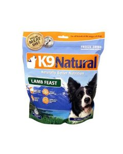 K9 Natural Freeze Dried Lamb Feast Dog Food 1.1lb
