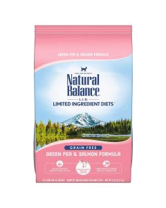 Natural Balance L.I.D. Limited Ingredient Diets Green Pea & Salmon Dry Cat Food 5lb