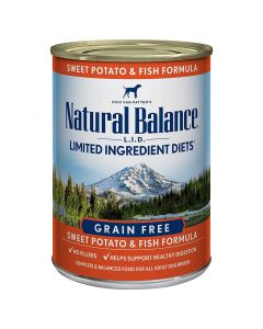 Natural Balance L.I.D. Limited Ingredient Diets Sweet Potato and Fish Formula 13oz