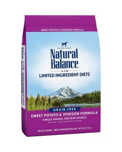 Natural Balance Sweet Potato & Venison Dry Dog Food 26lb