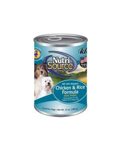 Nutrisource Chicken and Rice Formula Pate Canned Dog Food 13oz