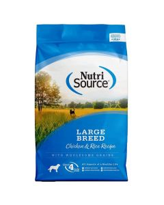 Nutrisource Chicken & Rice Large Breed Adult Dry Dog Food 30lb