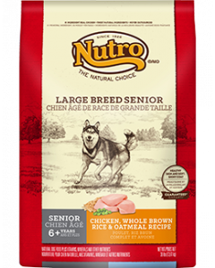 Nutro Chicken & Rice Large Breed Senior Support Dry Dog Food 30lb