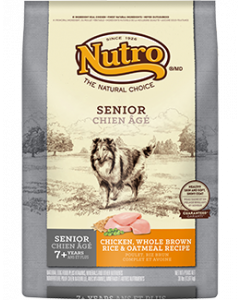 Nutro Chicken Rice & Oatmeal Senior Dry Dog Food 30lb