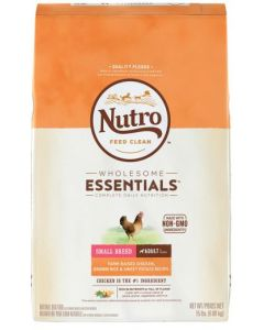 Nutro Chicken & Brown Rice Small Breed Dry Dog Food 15lb
