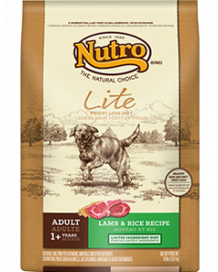 Nutro Lamb & Rice Lite Weight Management Dry Dog Food 30lb