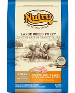 Nutro Chicken Rice & Oatmeal Large Breed Puppy Dry Dog Food 30lb
