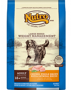 Nutro Chicken Rice & Oatmeal Large Breed Weight Management Dry Dog Food 30lb