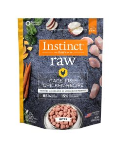 Instinct Pet Food Raw Frozen Bites Cage-Free Chicken Recipe Dog Food 3lb