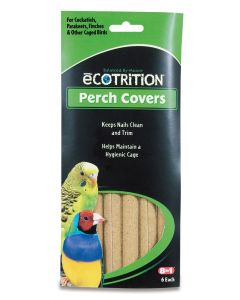eCOTRITION Perch Covers for Cockatiels Parakeets Finches & Other 6 Pack