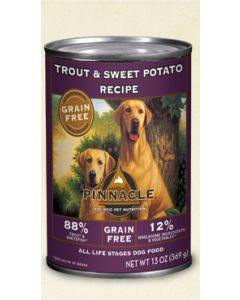 Pinnacle Grain Free Trout and Sweet Potato Recipe 13oz