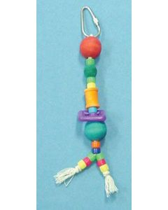 Paradise Bird Toy Bird Brainers Toy w/ Plastic & Wood Beads 7in