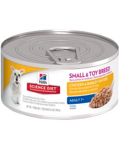 Science Diet Adult 7+ Small and Toy Chicken and Barley Entr 5.8oz