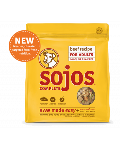 Sojo's Complete Beef Recipe Dry Dog Food 7lb
