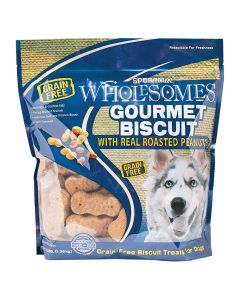 Sportmix Wholesomes Gourmet Real Roasted Peanuts Biscuit Dog Treats 3lb