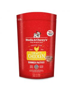 Stella and Chewys Chewy's Chicken Frozen Dinner Patties 3lb