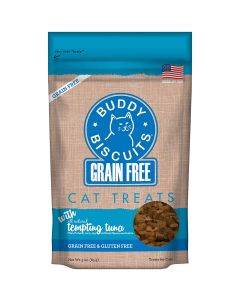 Buddy Biscuits Grain Free Tempting Tuna Biscuits for Cats 3oz