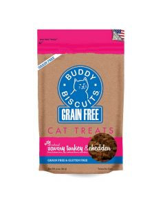 Buddy Biscuits Grain Free Savory Turkey & Cheddar Biscuits for Cats 3oz