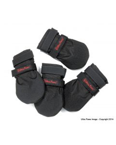 """Ultra Paws Durable Dog Boots Black Large 3.25"""""""