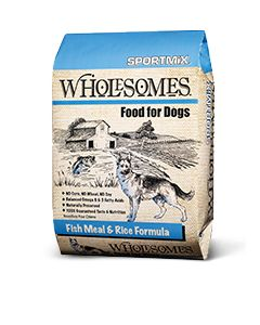 Wholesomes Fish Meal & Rice Dry Dog Food 40lb