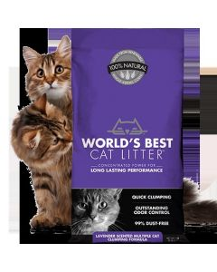 World's Best Lavender Scented Multiple Cat Clumping 14lb