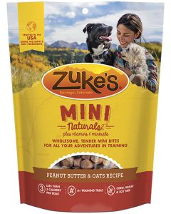 Zukes Mini Naturals Peanut Butter & Oats Recipe Dog Treat 16oz