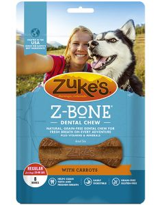 Zukes Dental Chew with Carrots 8 Count