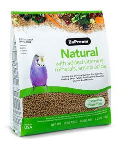 Zupreem Natural with Added Vitamins, Minerals, Amino Acids Small Birds 2.25lb
