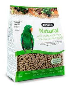Zupreem Natural with Added Vitamins, Minerals, Amino Acids Parrots & Conures 3lb