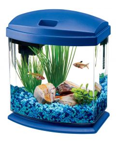Aqueon LED Mini Bow Desktop Aquarium Kit Blue 1gal