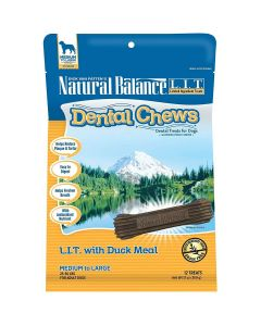 Natural Balance Dental Chews L.I.T. with Duck Meal Formula Medium 13oz