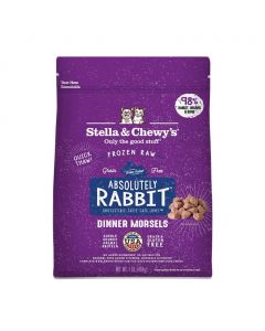 Stella and Chewys Absolutely Rabbit Frozen Dinner Morsels 1lb