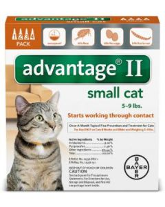 Bayer DVM Advantage II for cats 1-9lb, 4 Month Supply