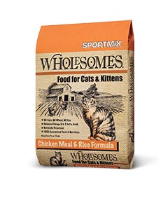 Wholesomes Chicken Meal And Rice Formula Dry Cat Food 15lb