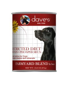 Dave's Pet Food Restricted Diet Protein ? Phosphorus Farmyard Blend 13oz