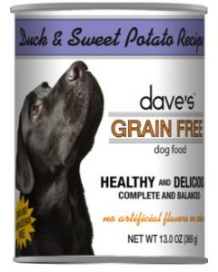 Dave's Pet Food Grain Free Duck and Sweet Potato Recipe 13oz