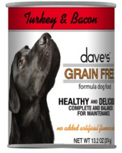 Dave's Pet Food Grain Free Turkey and Bacon Recipe 13oz