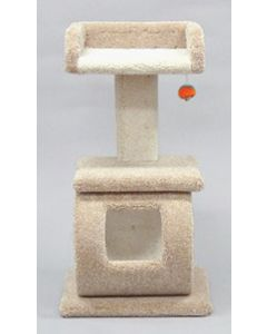 """Classy Kitty Pedestal with Tray and Tunnel 40"""""""
