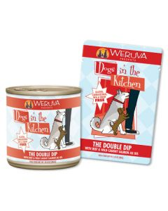 Weruva The Double Dip with Beef and Wild Caught Salmon Au Jus 10oz