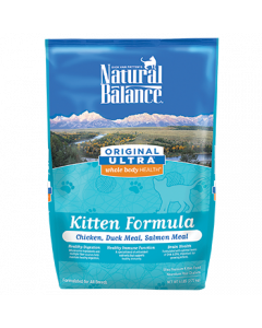 Natural Balance Chicken Duck & Salmon Kitten Formula Dry Cat Food 6lb