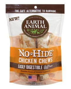 "Earth Animal Chicken 4"" Chews 2 Pack"