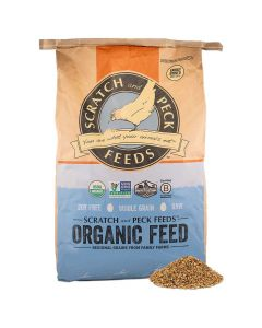 Scratch and Peck Naturally Free 16% Organic Layer Feed for Chickens and Ducks 40lb