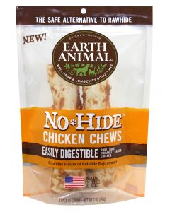 "Earth Animal Chicken 7"" Chews 2 Pack"