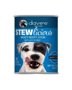 Dave's Pet Food Stewlicious Canned Meaty Beef Stew Dog Food 13.2oz