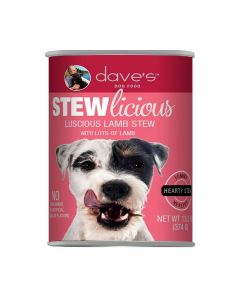 Dave's Pet Food Stewlicious Canned Luscious Lamb Stew Dog Food 13.2oz