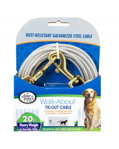 Four Paws Heavy Weight Tie-Out Cable Silver 20'