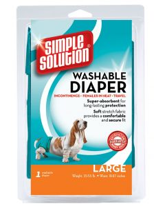 Simple Solution Washable Female Dog Diapers 1 count Large
